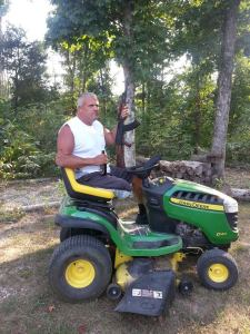 A John Deere, a beer and an AK-47.  What else am I missing?
